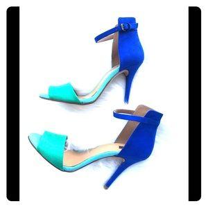 Zara Basics Color Block High Heel Pumps